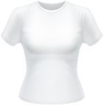 T-Shirt Basic Women weiß | XL